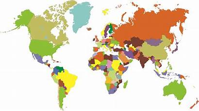 Map Colored Countries Clipart Cliparts International Know