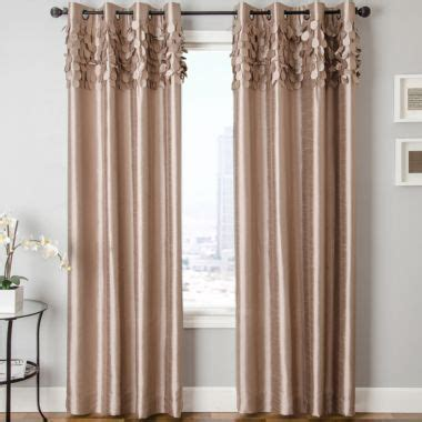 jcpenney silk drapes lazio faux silk grommet top curtain panel found at