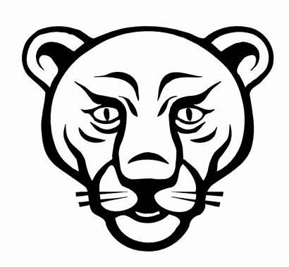 Clipart Lion Head Face Coloring Advertisement Line