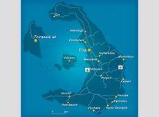 Map of Santorini island, Greece Greekacom