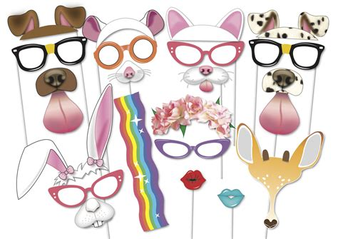 Cats And Dogs Party Photo Booth Props Set 21 Piece Printable