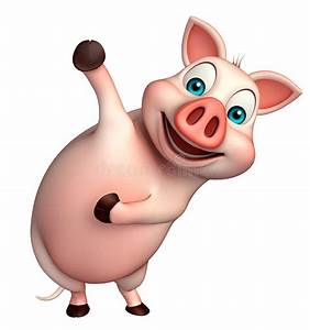 Funny Pig Cartoon Character Stock Illustration - Image ...