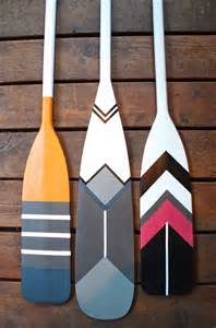 my sweet thrifty thursday painted canoe paddles