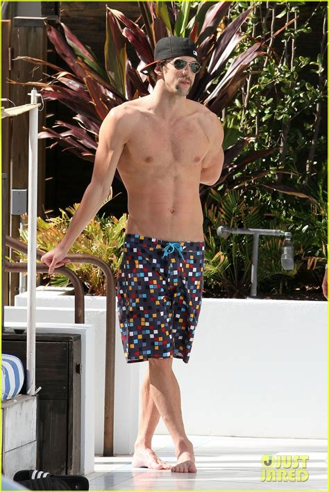 Michael Phelps Shirtless Pool Time In Miami Photo