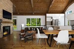 plain pied scandinave avec garage et terrasse abritee With site de plan de maison 11 terrasse