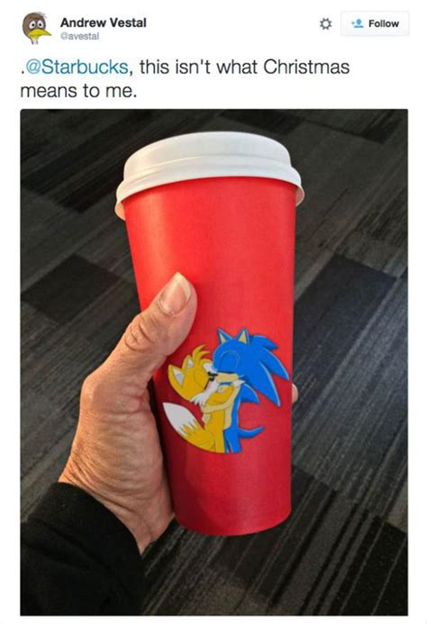 funny side   red starbucks cup craziness  pics