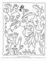 Coloring Pages Sea Dragon Kelp Printable Seaweed Sheets Cartoon Creatures Seahorse Leafy Ocean Silhouette Wonderweirded Seadragon Ll Getcolorings Under Getdrawings sketch template