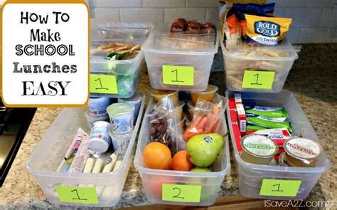 school lunches easy time saver