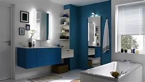 stunning salle de bain bleu images bikepartyus With meuble vasque salle de bain original