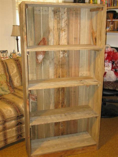 reclaimed wood bookshelves pallet bookcase