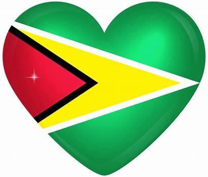 Guyana Flag Wallpapers Heart