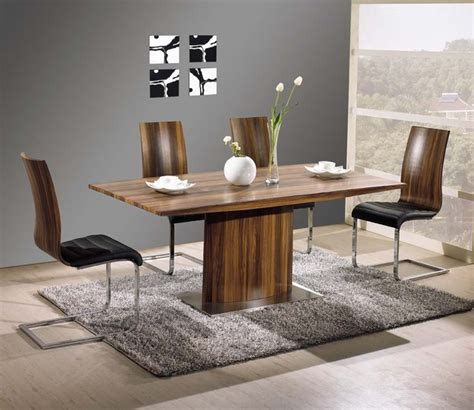 exquisite rectangular wood  leather dinner furniture