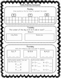 Weekly Homework Packet For 1st Grade