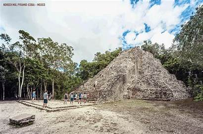 Ruins Ancient Gifs Temple Around Pyramid Reconstructed