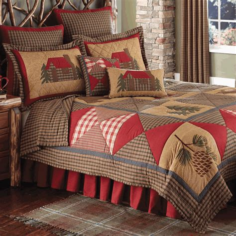 Rustic Bedding King Size Cabin Quiltblack Forest Decor