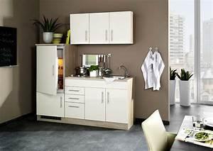 Kühlschrank Mit Eiswürfelbereiter 70 Cm Breit : hochglanz creme singlek che 180 cm mit k hlschrank ~ Watch28wear.com Haus und Dekorationen