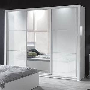 Kleiderschrank Weiß Hochglanz Mit Spiegel : armoire design blanc ~ Bigdaddyawards.com Haus und Dekorationen