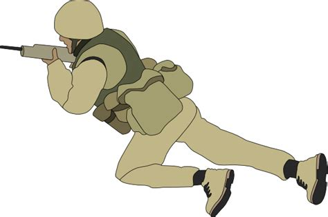 Soldier Clipart Crawling Soldier Clip At Clker Vector Clip