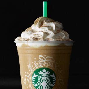 Starbucks Pumpkin Muffin Calories by Eggnog Frappuccino 174 Blended Beverage Starbucks Coffee