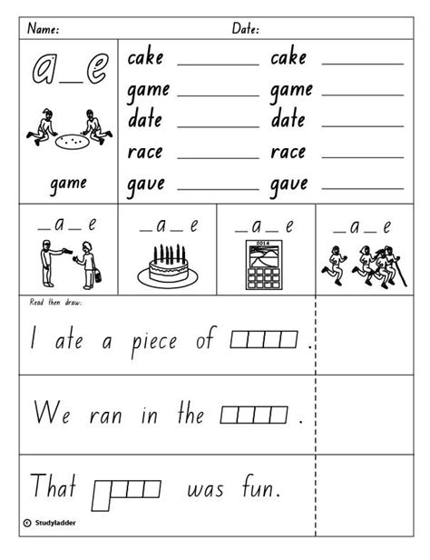 bossy e worksheets for kindergarten silent e worksheets