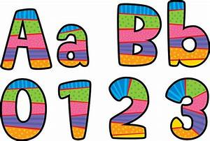 Poppin39 patterns playful patterns 4quot designer letters for Display lettering