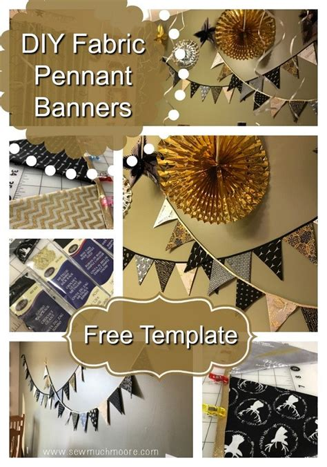 tutorial easy pennant banner  holiday decorating sewing
