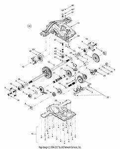 Troy Bilt 14az809h063 Gtx2446  2003  Parts Diagram For Transmission 618