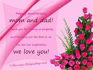 anniversary messages for parents 365greetingscom With wedding cards messages from parents