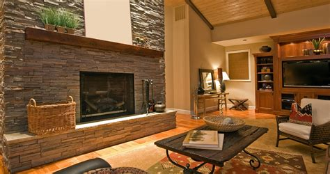 indoor fireplace ideas  natural exposed seamless stone