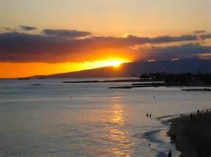 Waikiki Beach Honolulu Hawaii Sunset