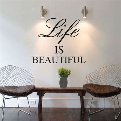 life  beautiful wall quote trendywalldesignscom