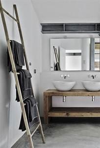 porte serviette salle de bains maison design bahbecom With porte serviette salle de bain design