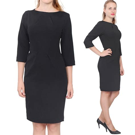 Black Womens Elegant Classy Work Office Business Long