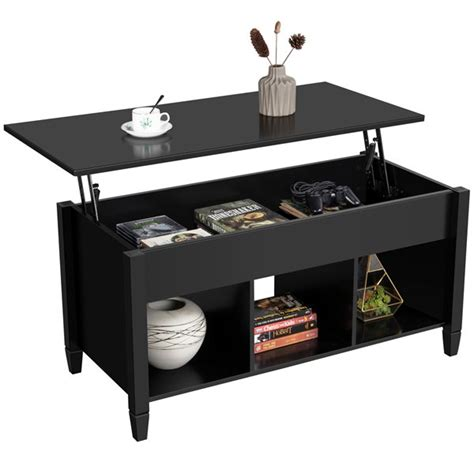 Lift top coffee tables for every space. Modern Wood Lift Top Coffee Table with Hidden Compartment & Storage Shelve for Living Room ...