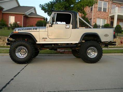 jeep scrambler 1982 sell used 1982 jeep scrambler laredo silver black no