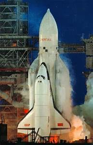 Soviet Russian Buran shuttle on its first and only launch ...
