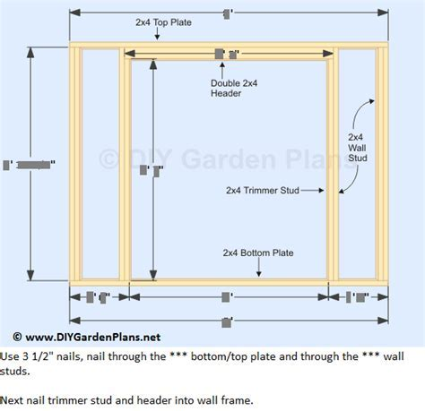 How to Build the Lean To Shed Front and Back Wall