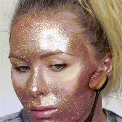 Glitter Face Makeup Artist Using Katie Blush