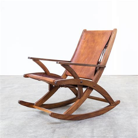 leather rocking chair 60s oak and saddle leather rocking chair barbmama