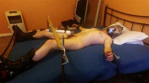 Milked With A Vibrating Wand Tied Spreadeagle In