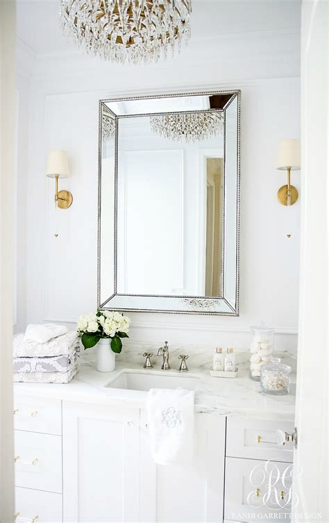 small bathroom wall decor ideas glam transitional guest bathroom reveal with marble