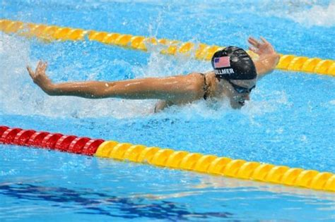 Olympic Swimmers Swimming Butterfly