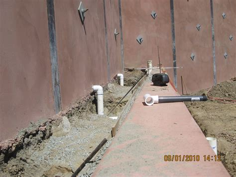 retaining wall drainage pipe drainage waterproofing rwr