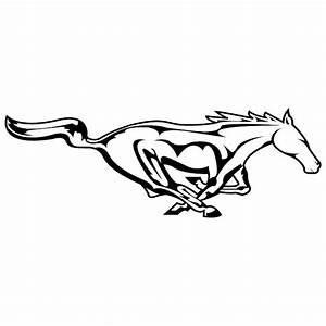 Mustang Logo Drawing