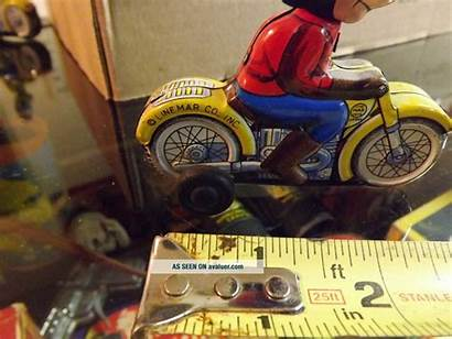 Mickey Motorcycle Mouse Linemar Friction Tin Rare