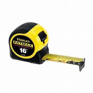 Tape Measure 16 Ft X 1 4 Inch Stanley Fatmax Metric Sae