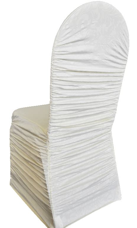 ivory ruffle spandex banquet chair covers