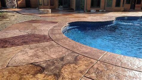 stamped concrete pool decks advanced concrete