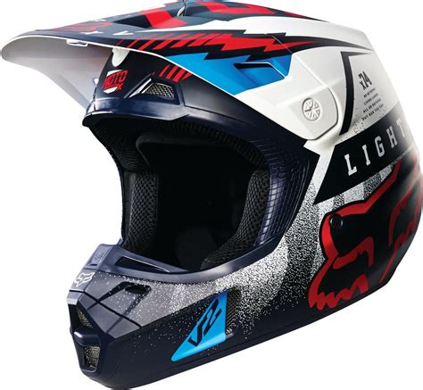 motocross helmets cheap 179 08 fox racing v2 vicious dot helmet 234777