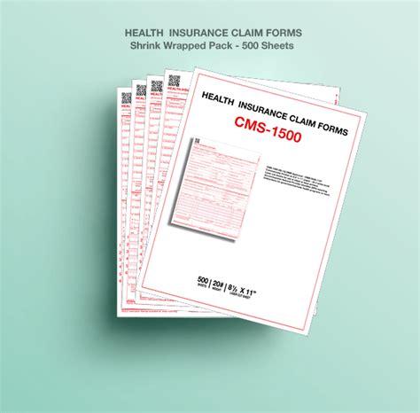 cms  health insurance paper claim form